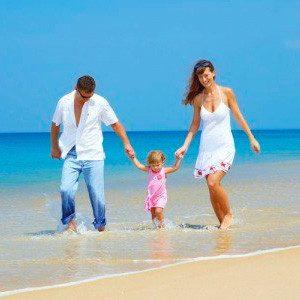 Одтдых с детьми за границей на море