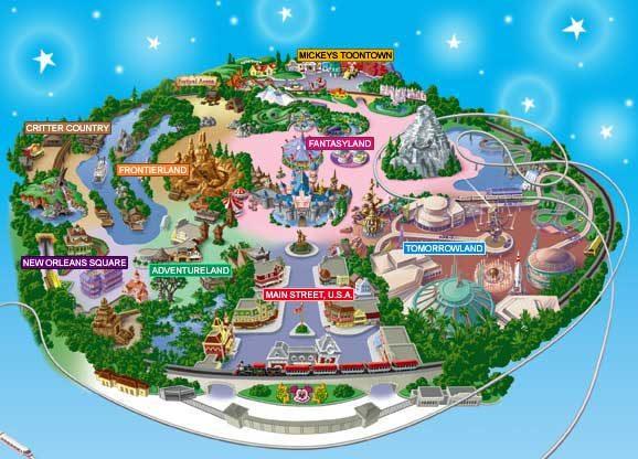 Диснейленда в США карта