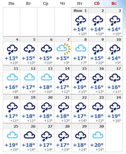 Погода в июньском Амстердаме 2020.