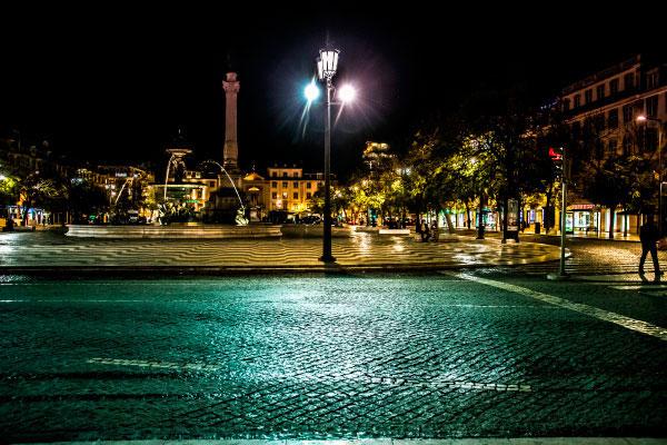 Город ночью.