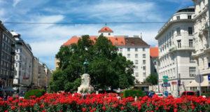 Столица Австрии в июне.
