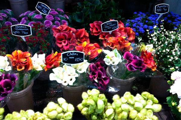 Рынок цветов.