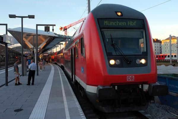Как доехать на поезде из Австрии в Германию.