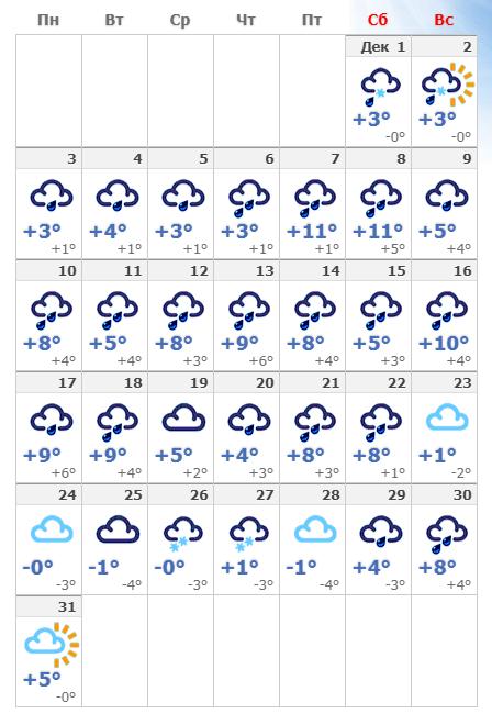 Погодные условия в декабрьском Берлине в 2019 году.