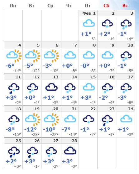 Погодные условия в феврале в Вене в 2020 году.