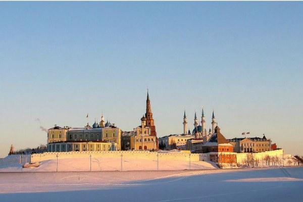 Казанский кремль в феврале.