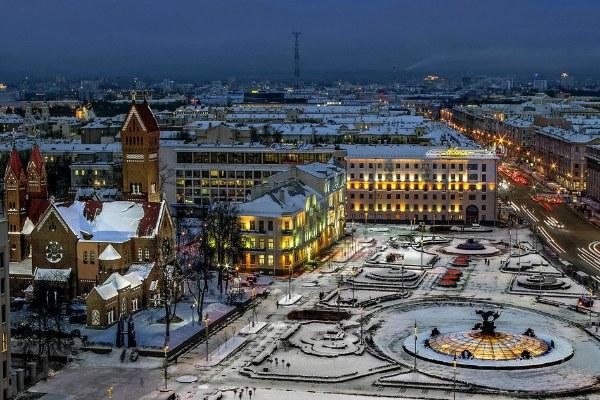 Площадь в Минске.