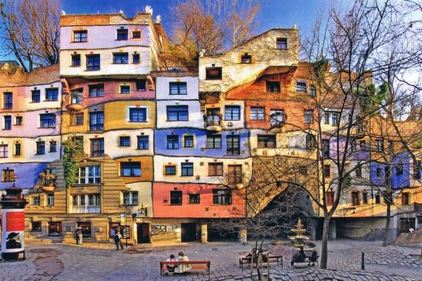 Разноцветный дом.