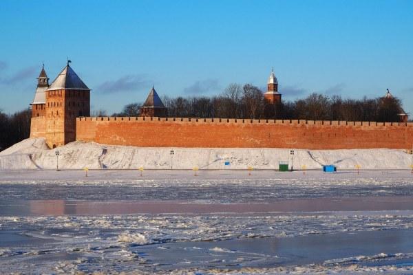 Кремль в феврале.