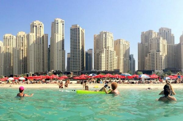 Пляжный отдых в Арабских Эмиратах.