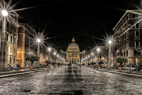 Температура воздуха ночью в Риме.