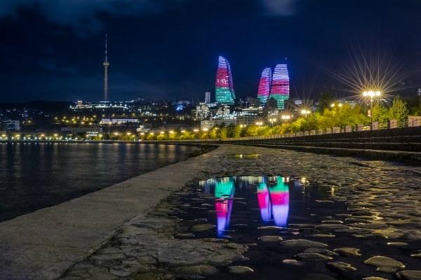 Набережная Баку.