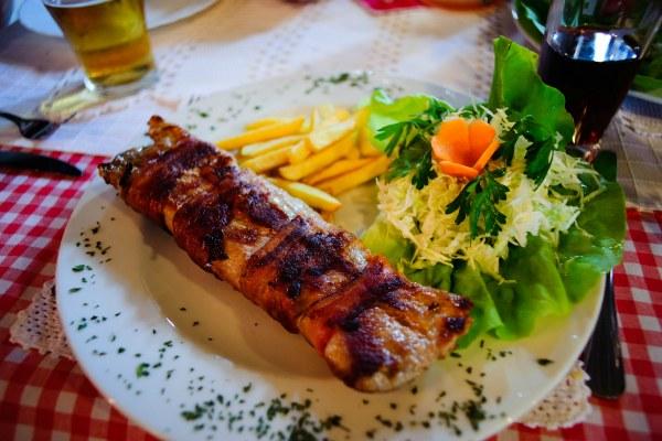 Мясо с картошкой.