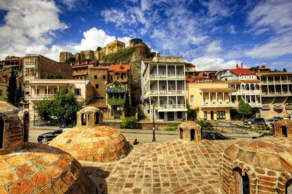 Старые кварталы Тбилиси.