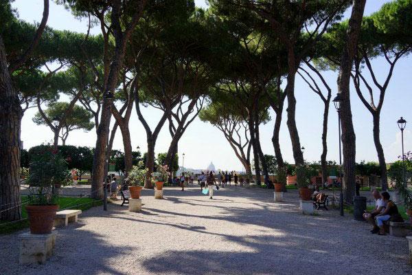 Парк Рима в июне.
