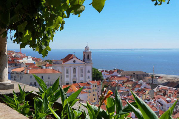 Столица Португалии весной 2020.
