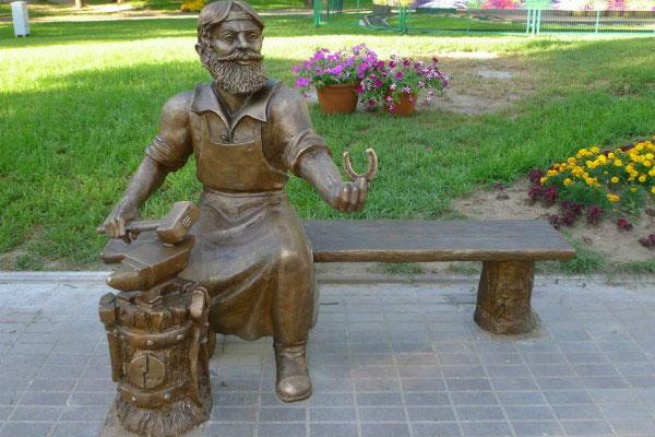 Памятник Скобарю.