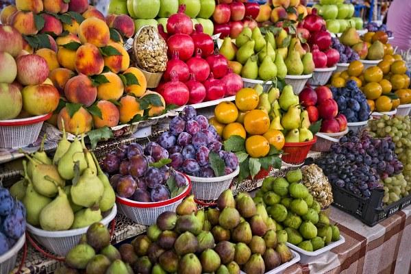 Ереванский фруктовый рынок.
