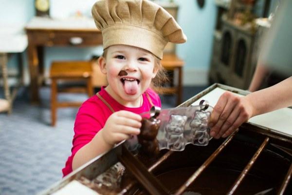 Шоколад и дети.