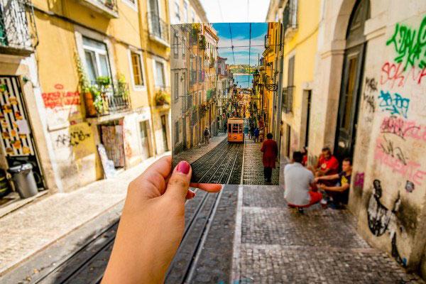 Улицы Лиссабона в августе 2019 года.