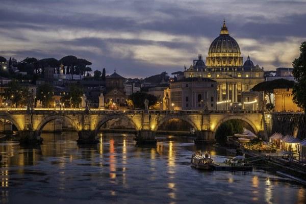 Вечерний Рим.