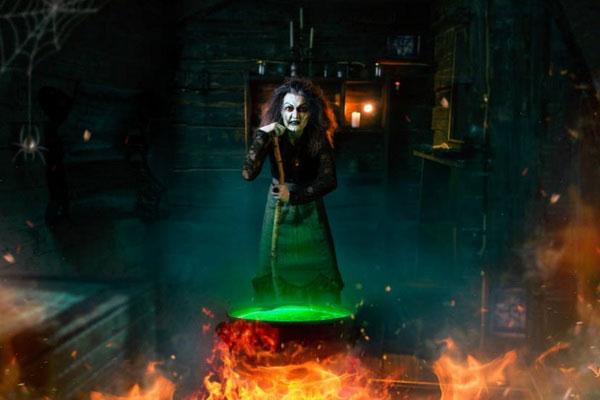 Страшная ведьма.