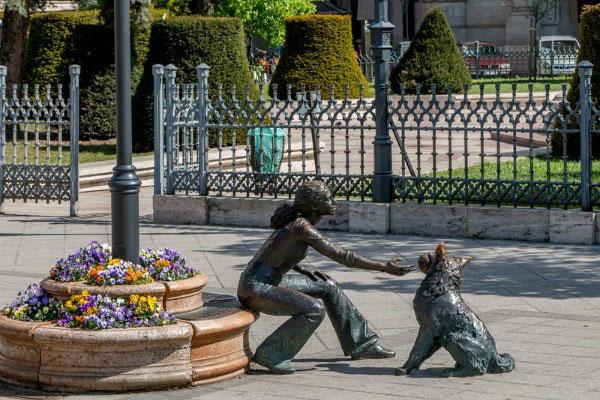 Скульптуры города.