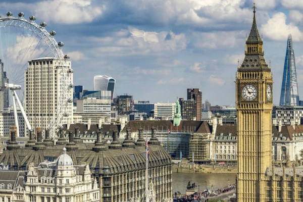 Вид на Лондон.