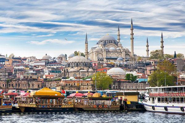 Вид на город с Босфора.