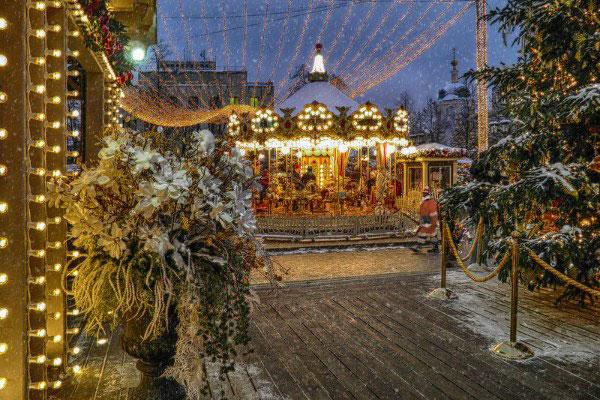 Зима в Москве.