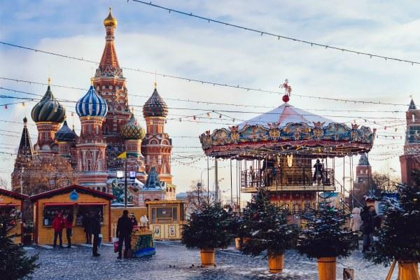 Москва зимой в январе 2019.