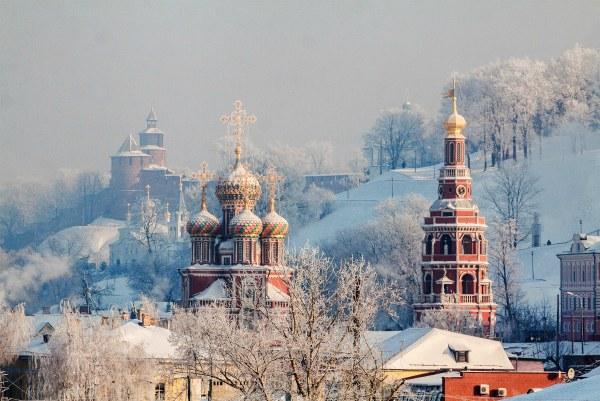 Зима 2020 в Нижнем Новгороде.