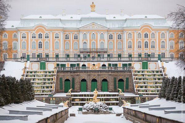 Зима в Петергофе.