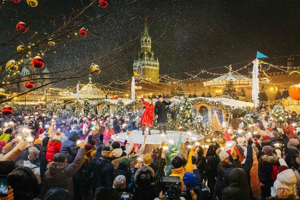 Новый год 2020 в Москве.