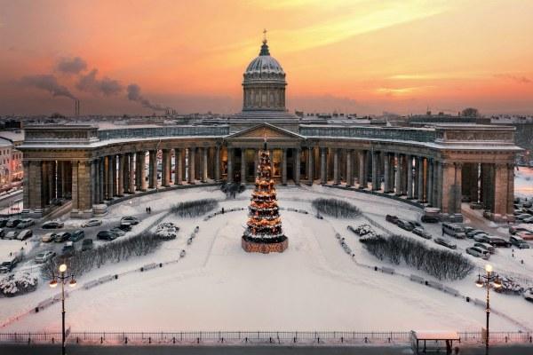 Петербург зимой в январе 2020.