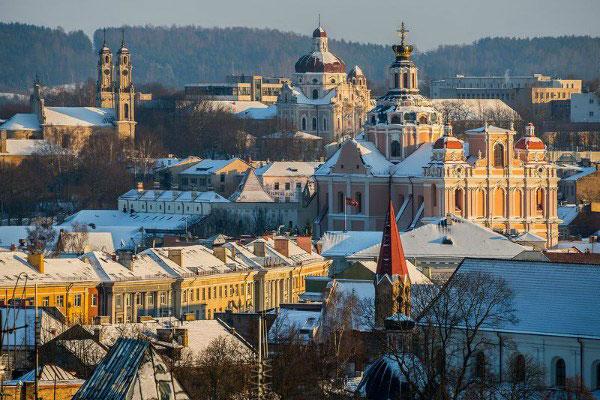 Зимний город.