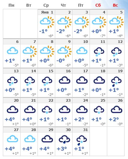 Погодные условия в столице Австрии в январе и на Новый год 2020.