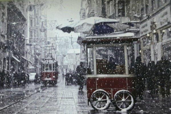 Зимний город Стамбул в 2020 году.