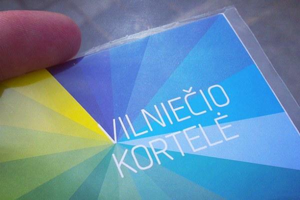 Карта Vilniecio kortele.