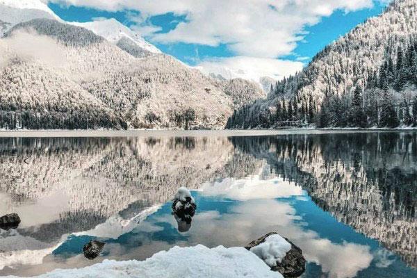 Абхазия зимой.
