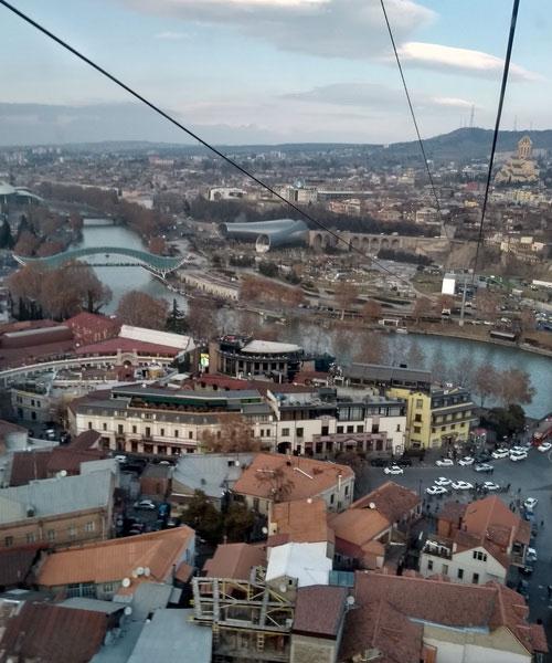 Тбилиси с высоты птичьего полёта.