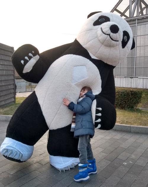 Ростовая кукла панда.
