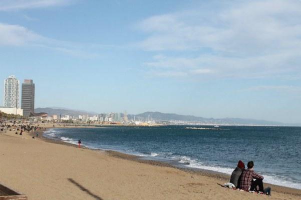Зимний пляж.
