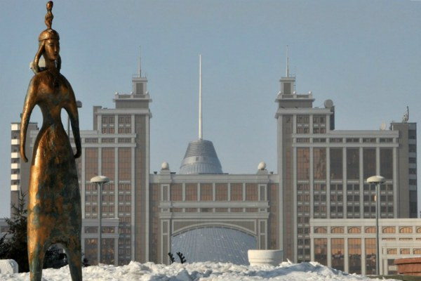 Зима 2020 в Нур-Султане.