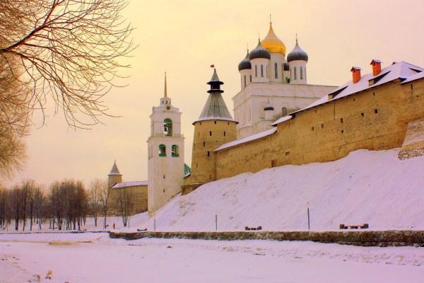 Снежный Псков в феврале 2020.