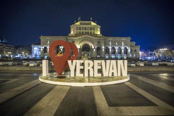 Зима в Ереване.