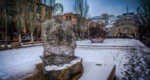 Ереван в феврале.