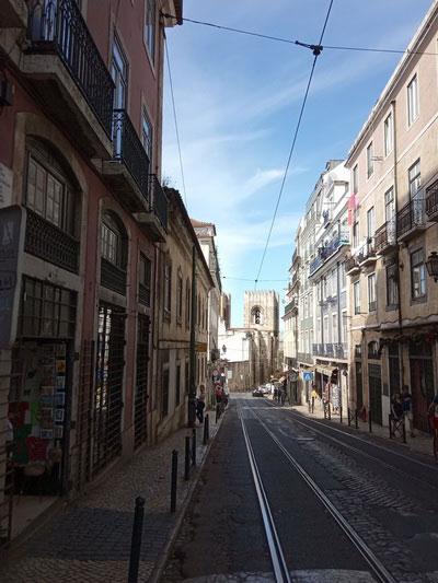 Мощёная улица.