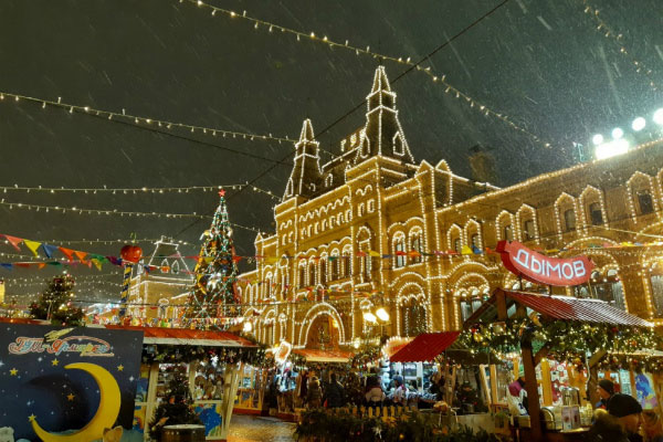 Москва после Нового года.