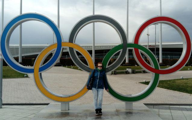 В Олимпийском парке.